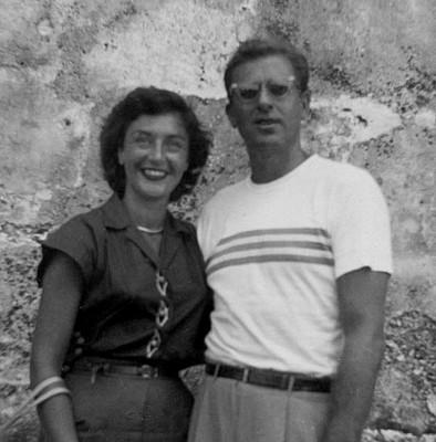 Jack & Shirley Leifer in Havana, Cuba -- 1946.